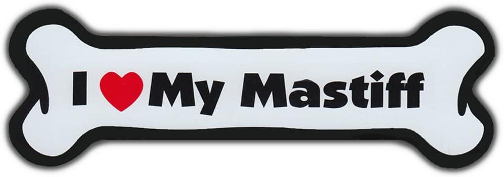 Refrigerators I Love My MastiffFor Cars Dog Bone Magnet More