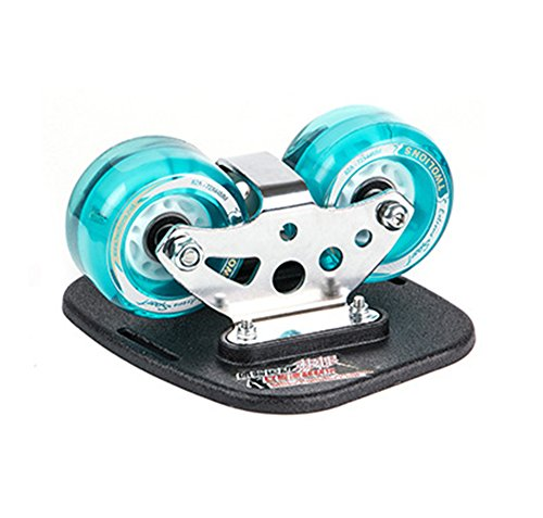 TWOLIONS Drift Skate Plates with High Quality Flashing PU Wheels Abec-7 Bearings Blue