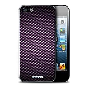 STUFF4 Phone Case / Cover for Apple iPhone 5/5S / Purple Design / Carbon Fibre Effect/Pattern Collection