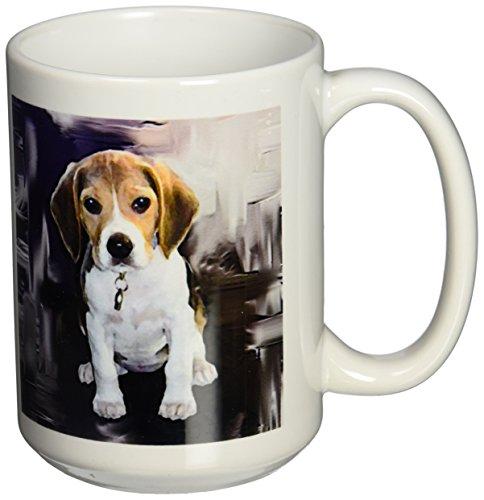 3dRose mug 4021 2 Beagle Mug 15 Ounce