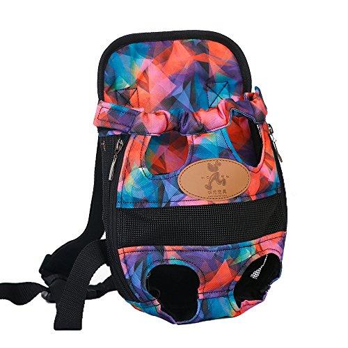 - HooPet Pet Dog Carrier Backpack Adjustable Pet Front Cat Dog Carrier Backpack Travel Bag 5 Colors Available. (M, Colorful)