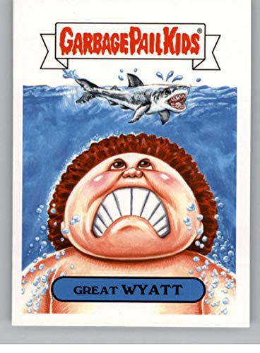 2018 Topps Garbage Pail Kids Oh The Horror-ible Retro Horror Sticker A NonSport #8A GREAT WYATT ()