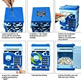 HUSAN Great Gift Toy for Kids Code Electronic Piggy Banks Mini ATM Electronic Save Money Coin Bank Box for Children Password Lock case