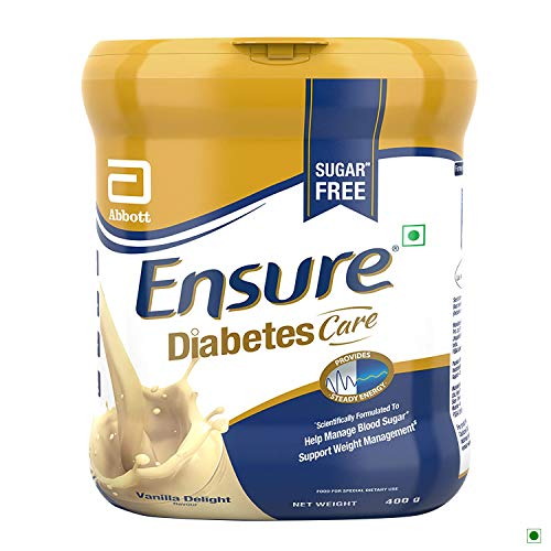 Abbott Ensure Diabetes Care Vanilla Delight Flavor - 400 gm (Previously known as Glucerna SR) (Diabetic Powder)