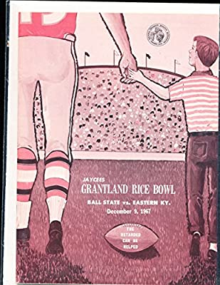 12/9 1967 Grantland Rice bowl football program Bal State vs Eastern Kentucky
