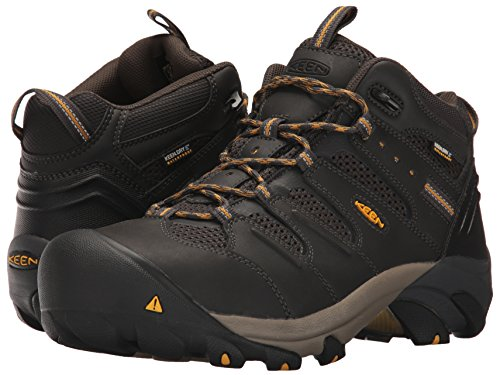 KEEN Utility Men's Lansing Mid Waterproof Industrial and Construction Shoe, Raven/Tawny Olive, 10.5 2E US by KEEN Utility (Image #6)