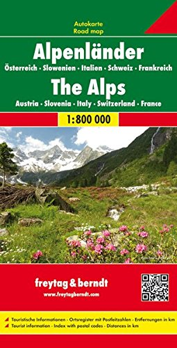 The Alps (Austria-Slovenia-Ita-Swit-Fra) 1:800K FB 2013 (English, Spanish, French, Italian and...