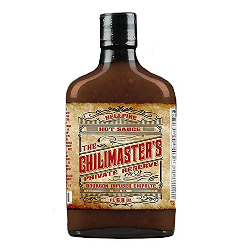 - The Chilimaster's Private Reserve Bourbon Infused Chipotle Hot Sauce 6.8 Ounce