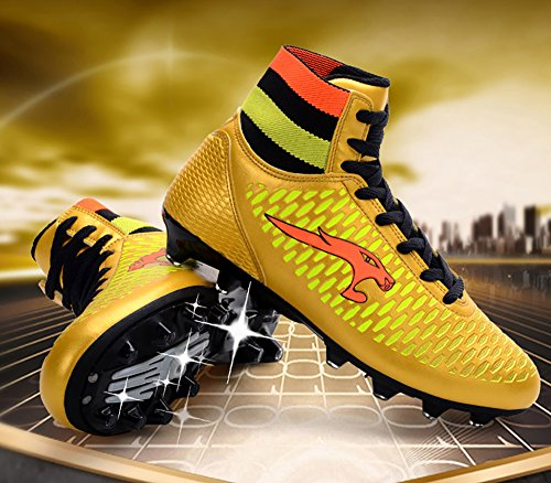 High ag Town Sneakers TF Firm Top Cleat 66 Soccer Performance No Cleat Ground Football AG Gold Shoes gRqSZP