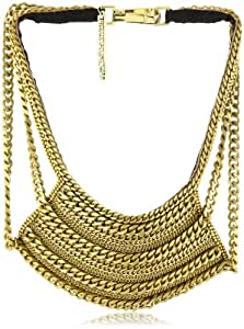 "Fiona Paxton ""Tribal Goddess"" Breeze Metal Chain and Leather Necklace"