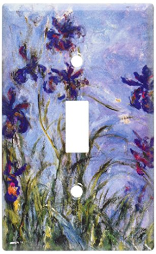 Art Plates - Monet: Irises Switch Plate - Single Toggle ()