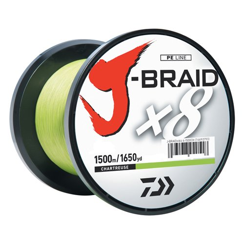 Best Fishing Line : Daiwa J-Braid 1500M trand Woven Round Braid Line
