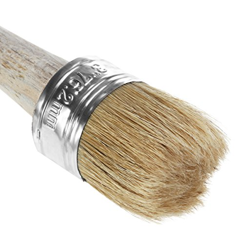 ROSENICE Paint Wax Brush for Painting Waxing Round Paint Brush Wood Brushes with Bristles from ROSENICE