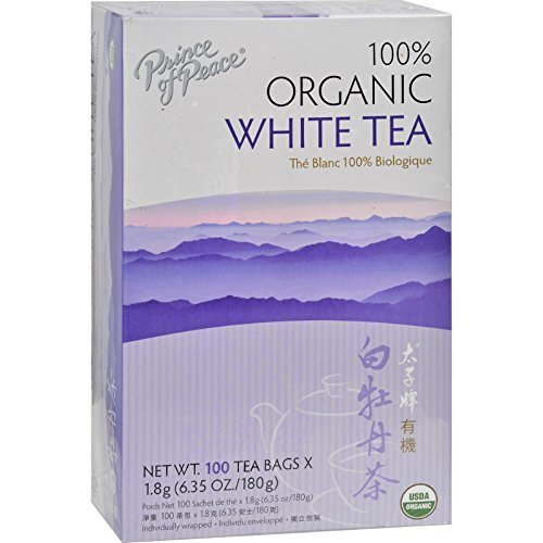 Prince of Peace Organic White Tea 100 tea bags (Pack of 12) by Prince Of Peace