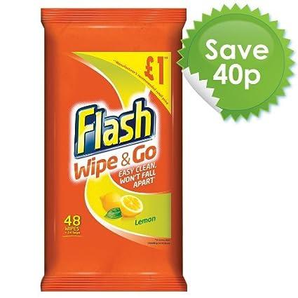 Flash limpie y vaya Lemon toallitas de limpieza (Pack de 10, total 400)