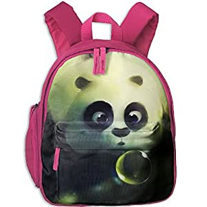Children Cute Panda Blowing Bubble School Backpack Gift For Baby Boys & Girls Bookbags School Travel Outdoor Bagpack With Pocket For Toddlers Kids