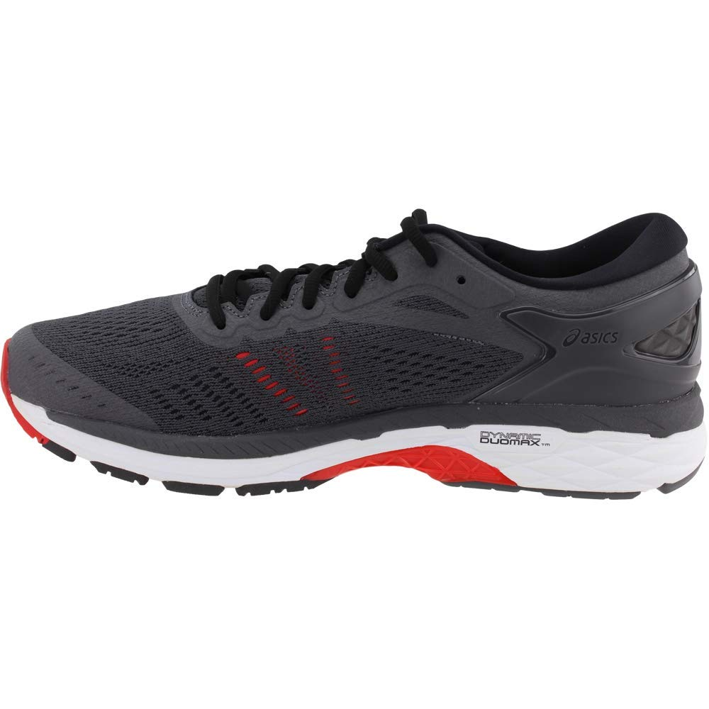 ASICS Gel-Kayano 24 Men's Running Shoe, Dark Grey/Black/Fiery Red, 6.5 M US by ASICS (Image #4)