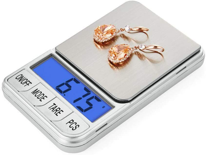 GPWDSN accuweight digital scale,Digital Scales Mini Electronic Pocket Weighing Medicine Weighing Portable Jewelry Weighing 500 Grams Counting Palm Scale-500 Grams 0.1 300g/0.01