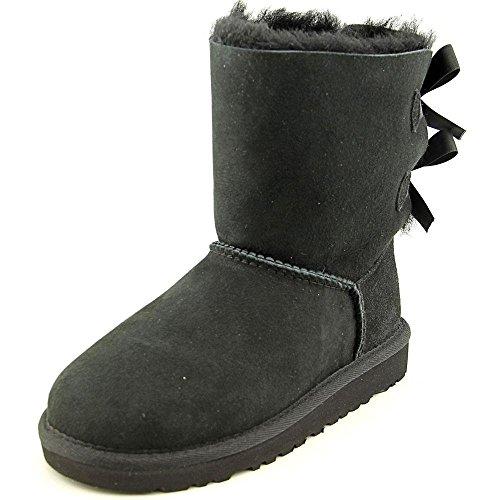 UGG Australia Children's Bailey Bow Little Kids Suede Boots,Black,US 4 Child US