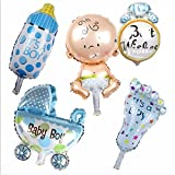 5 New Baby Themed Foil Balloons - It's A Boy