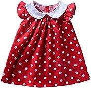 Infant Baby Girls Polka Dot Printed Ruffled Thin Frock Dress Toddler Summer Sundress