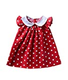 Infant Baby Girls Polka Dot Printed Ruffled Thin Frock Dress Toddler Summer Sundress