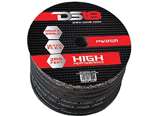 DS18 PW-8GA-250BK 250-Feet True 8-Gauge Ultra Flex Power Cable (Black)