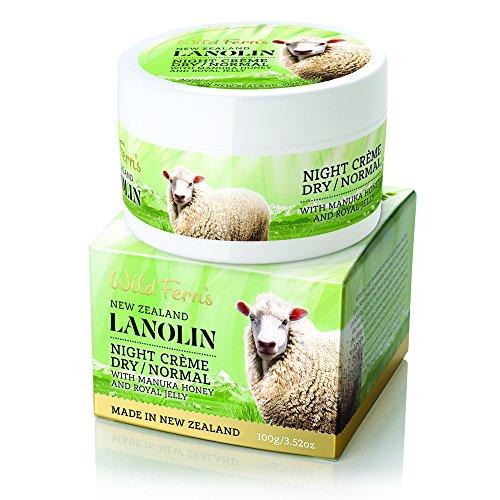 Wild Ferns Lanolin - Wild Ferns Lanolin, Manuka Honey, and Royal Jelly Night Cream for Dry to Normal Skin