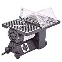 """GOFLAME 4"""" Table Saw 8500 RPM Electric Ideal for Wood, Metal, Tile and Plastics,Cuts Craft Power Tools Mini Electric Table Saw"""
