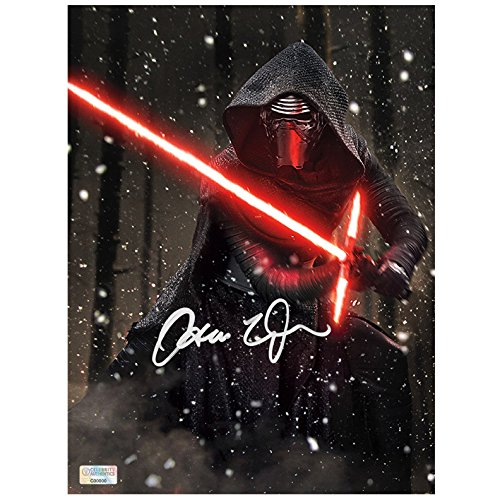 Adam Driver Autographed Star Wars: The Force Awakens 810 Kylo Ren Starkiller Base Photo