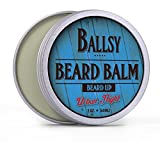 BALLSY Best Beard Balm Shea Butter All-in-One–All Natural Organic Argan & Jojoba Oil & More – Promotes Beard Growth, Softens Strengthens Beards & Mustaches – Best Beard Balm for Men For Sale