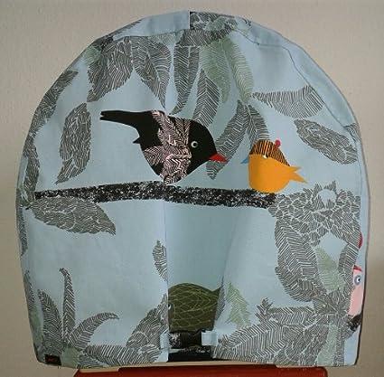 Decke Tuch Abdeckung für Savic 553234 Vogelheim Evelyne 40, 52 x 32 x 55 cm, UNIKAT UNIKAT (blau 65) Handarbeit