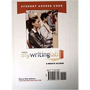 MyWritingLab -- Standalone Access Card (6-month access) Pearson