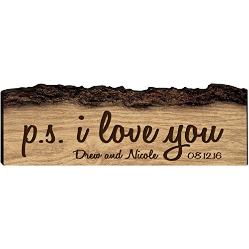 LifeSong Milestones Personalized Established Names with Dates Custom Sign Engraved with New Home House Warming Gift P.S. I Love You (P.S. I Love You)