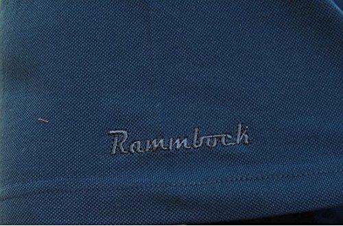 Übergrößen !!! Tolles Basic Polo-Shirt RAMMBOCK Piqué in Navy mit Stickerei