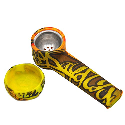 JR-one Silicone (Tobacco) Unbreakable Travel Accessory with lid Attach a Beautiful Graffiti
