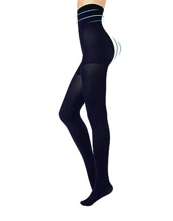 lebendig und großartig im Stil billig zu verkaufen erstklassig CALZITALY Blickdichte Figurformende Strumpfhose Hoher Taille   Schwarz,  Blau   S, M, L, XL   80 DEN   Made in Italy