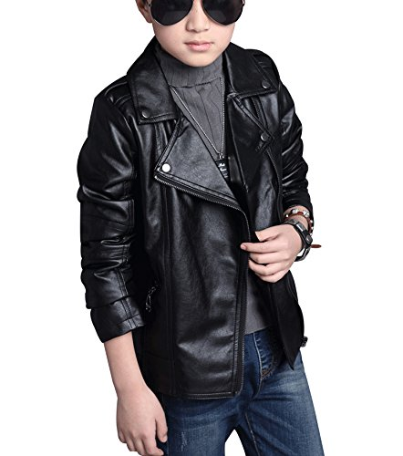 Amazon Com Loktarc Boys Girls Spring Motorcycle Faux Leather
