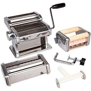 Amazon Com Pasta Maker Deluxe Set Machine W Attachments For 5