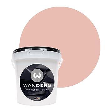Wanders24 Pintura de pared pintura de pizarra mate (1 litro, Rosé Japón) lavable, creativo, escribible, pintura de pizarrón