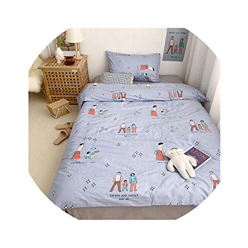 HANBINGPO Multi Color Bedding Queen Twin Size Duvet Cover 100% Cotton Bedding Set for Kids Youth Ultra Soft bedsheets Linen Fitted Sheet,Bedding Set 10,Twin Size 3pcs,Bed Sheet Style