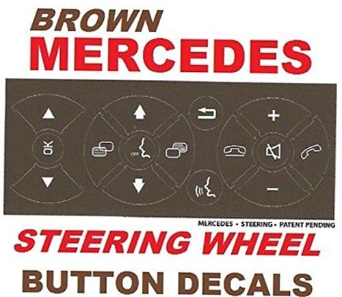 Brown Mercedes Benz Steering Button Repair Kit For Most C-Class E-Class GLK-Class W-Class and Others