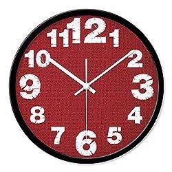 Creative Wall Clocks Fashion Cartoon Creative Wall Cloth Silhouette Round Wall Clock, Black 35CM