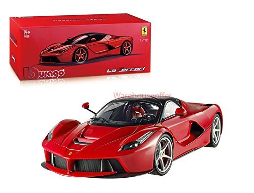 Bburago 1:18 FERRARI Signature Series LAFERRARI Diecast Car Red 18-16901RD ()