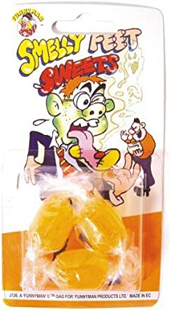 SMELLY FEET SWEETS~Joke Shop Practical~Retro~Pocket Money Toys~Pranks~Novelties