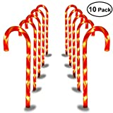 YUNLIGHTS Candy Cane Pathway Lights 27 Inches Christmas Pathway Markers Outdoor Christmas Decoration, Set of 10