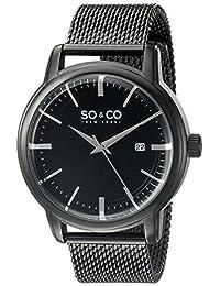 SO & CO New York  Men's 5207.4 Madison Analog Display Quartz Black Watch