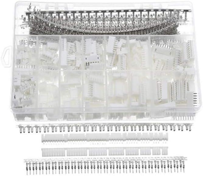1220 Pcs XH-2.54mm Cabeceras de Clavija Kit de Conector de Carcasa de Clavija Macho Hembra con Caja New One Tool