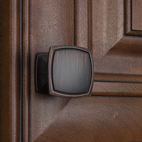 GlideRite Hardware 901412-ORB-100 Square Cabinet Knobs, 100 Pack, 1.5'', Oil Rubbed Bronze by GlideRite Hardware (Image #3)