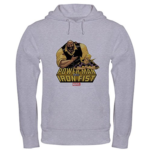 CafePress Power Man and Iron Fist Pullover Hoodie, Classic & Comfortable Hooded Sweatshirt Heather Grey